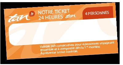Ticket 24h 4 personnes