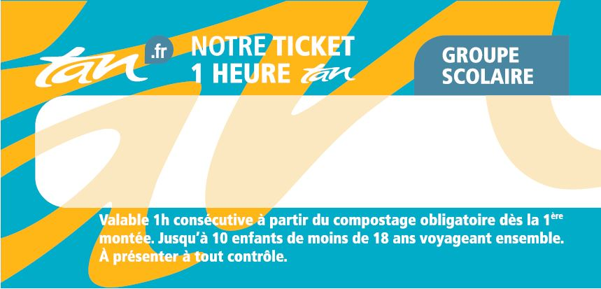 Ticket groupe scolaire